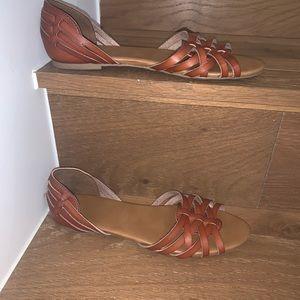 Peek toe sandals